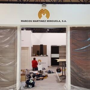 Enza Estudio colocación Stand Feria Marcos Martinez Minguela